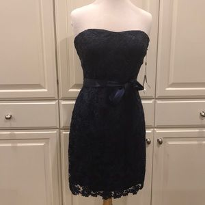 Adrianna Papell- Deep Navy Laced Gown